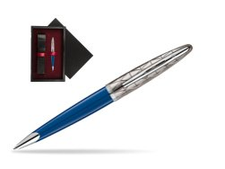 Długopis Waterman Carene Contemporary Blue Obssesion CT w pudełku drewnianym Czerń Single Bordo