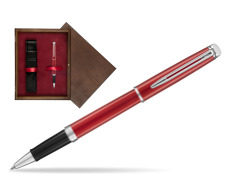 Pióro kulkowe Waterman Hémisphère Comet Red w pudełku drewnianym Wenge Single Bordo