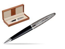 Długopis Waterman Carène Contemporary Czerń i Metal ST w pudełku classic brown