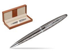 Długopis Waterman Carène Contemporary Gun Metal ST w pudełku classic brown
